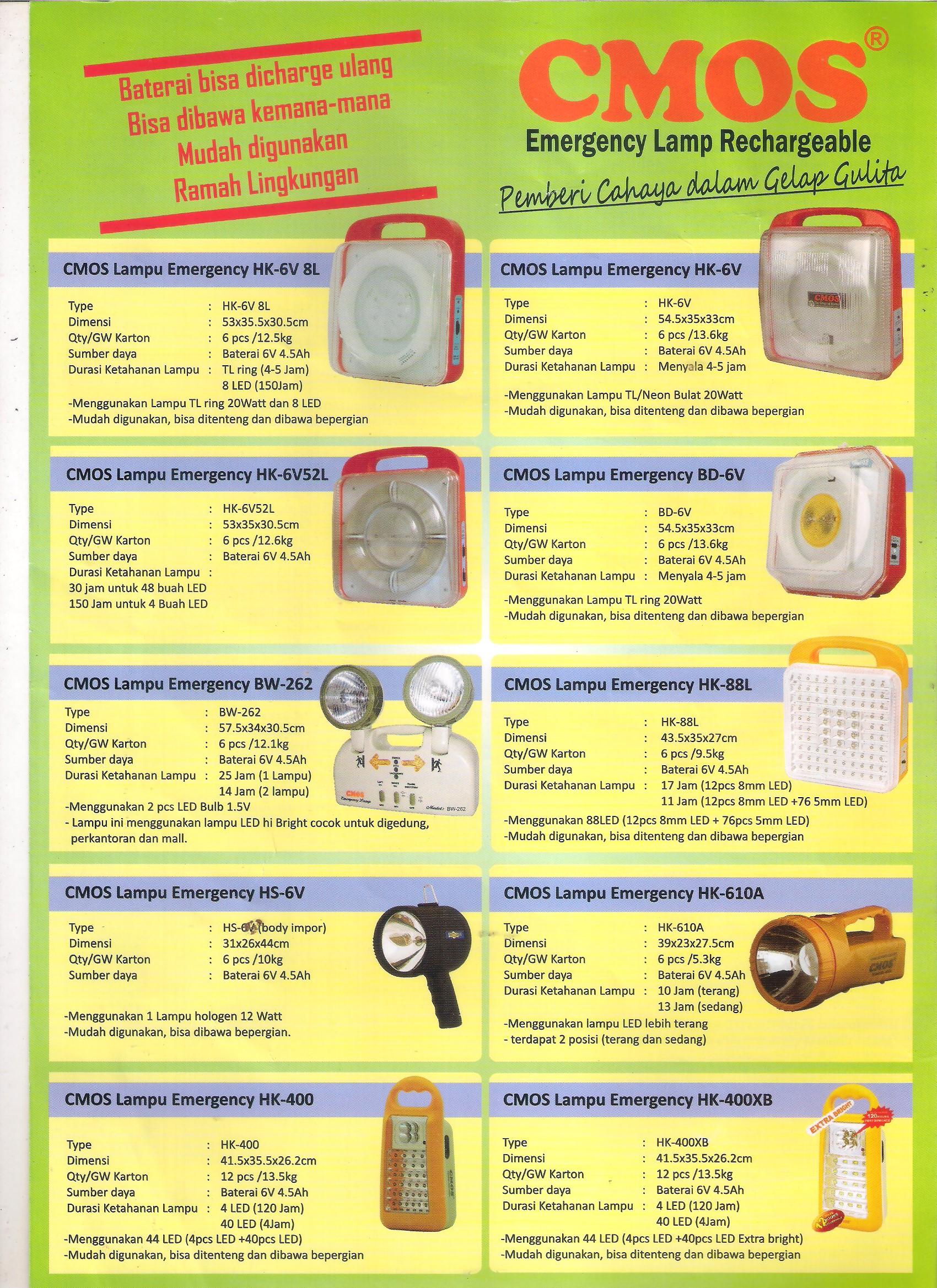 Emergency Lightings Elmekon Wiring Lampu Tl Led